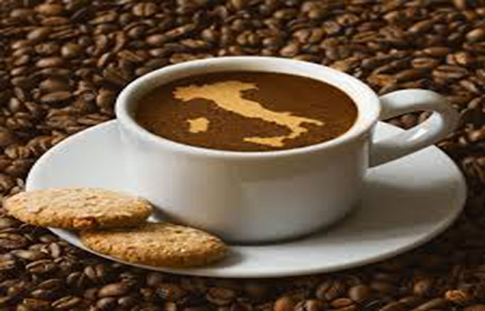 Brazilian coffee with its map design