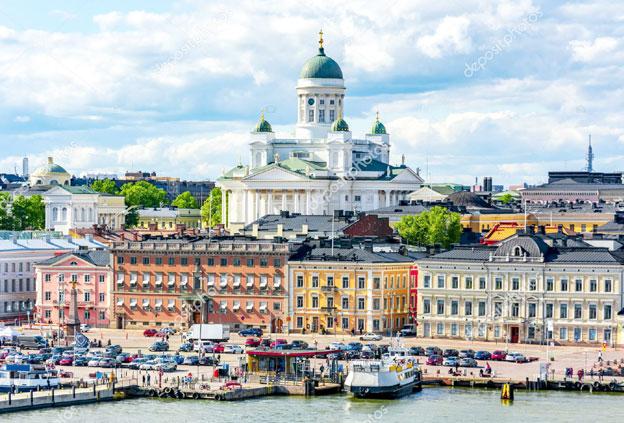 Finland's Helsinki cityscape