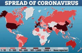 Coronavirus spreading worldwide. The Sun photo