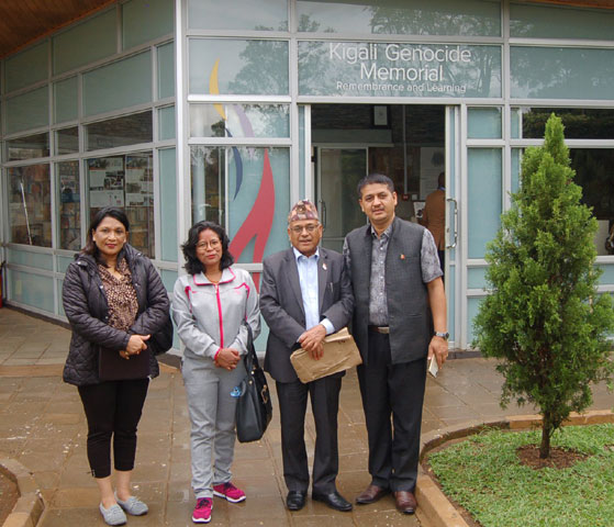 Photo Gift: The writer (second from left) along with NFC team in Kigali.
