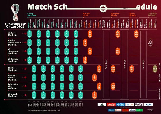 FIFA unveils games scheduled