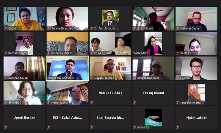Some of the participants at the zoom during the KOICA-KAAN webinar.