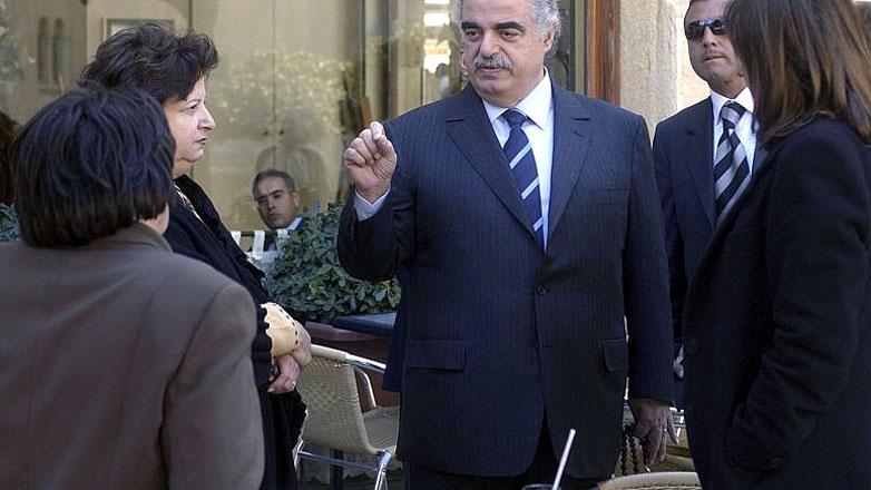 Former Lebanese Prime Minister Rafik Hariri on Feb. 14, 2005 in Beirut, Lebanon/File Photo AP