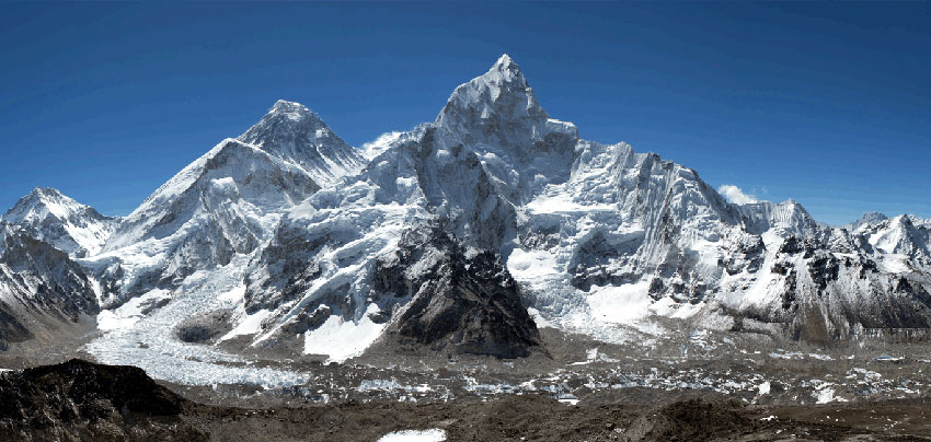Mt. Everest-the roof of the world.