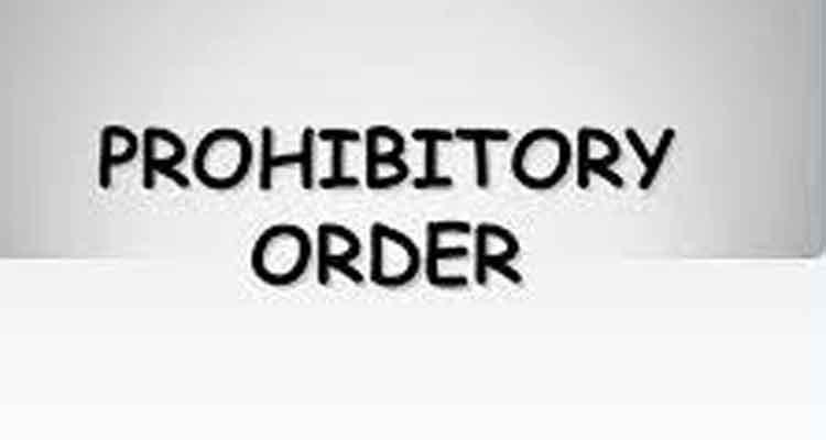 Prohibitory Order