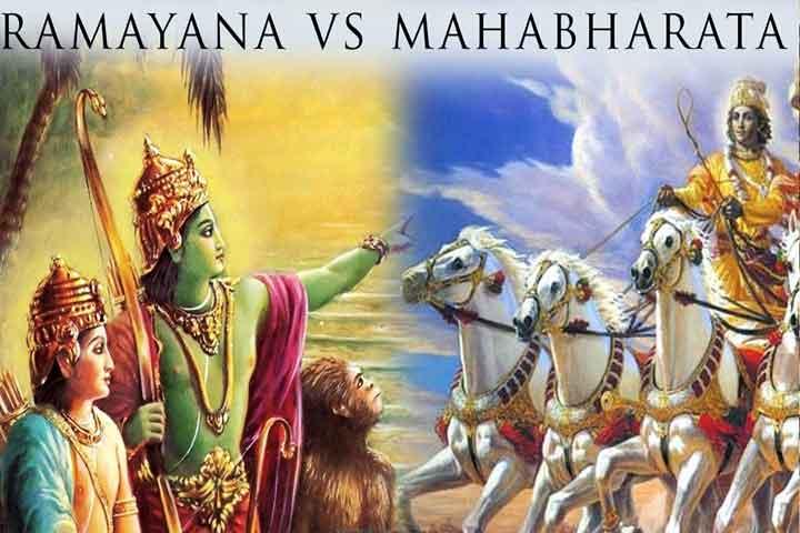 The ancient Indian epics of Ramayana and Mahabharata. Image Youtube