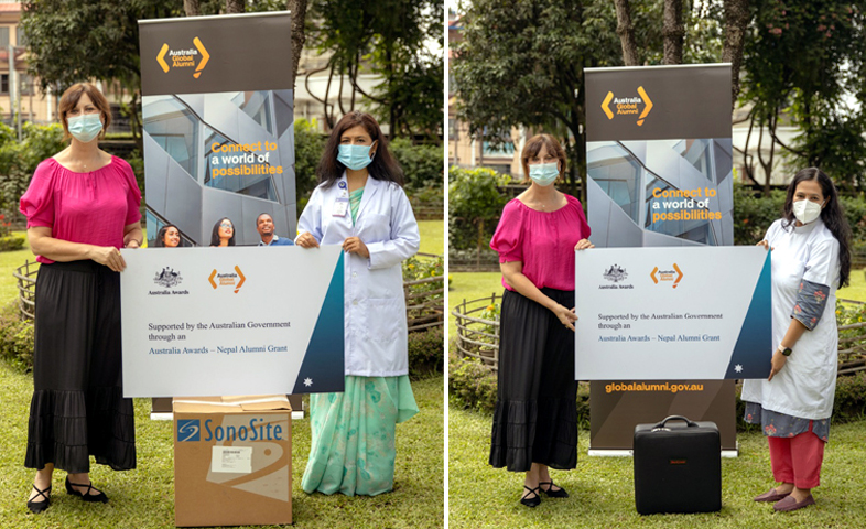 Ambassador of Australia to Nepal Felicity Volk handed over the medical equipment to Dean of IoM TUTH Dr. Professor Dr. Dibya Singh Shah left and Dr. Samarika Dahal at the Forensic Department of TUTH amidst a function organised on Tuesday at the embassy. Embassy Photo
