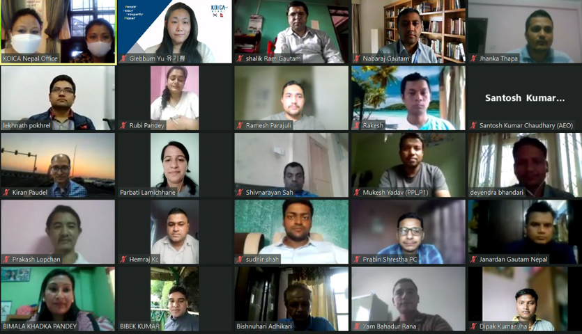 Participants sharing and gaining the experiences at the program organized by KOICA today through virtual form.