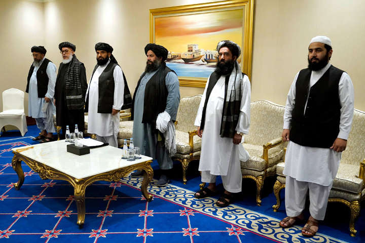 File photo of Taliban leaders: Two days after taking power following a lightning sweep through the country. the Taliban Tuesday declared a general amnesty for all government officials and urged them to return to work. Photo Punch Newspaper