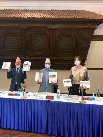 Ambassador of Australia to Nepal, Ms. Felicity Volk along with other Nepal Government's high officials launching the Australian-funded Water Resources Development Strategy for the Kamala River Basin, Nepal amidst a function organised Friday in the capital.