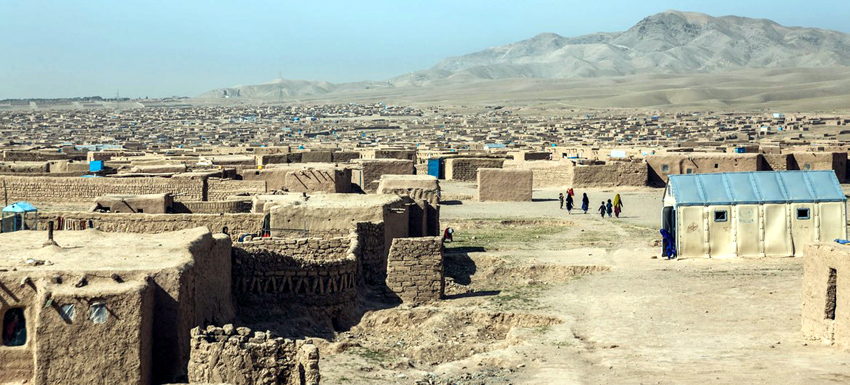 Upwards of 30,000 people live in this displacement site on the outskirts of Herat. IoM